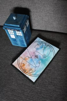 TARDIS stepper compartment with birthday card by eprzybyl