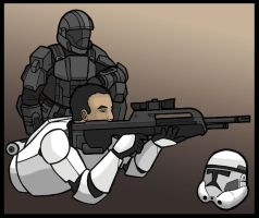 ODST+CLONETROOPER by blixychildish