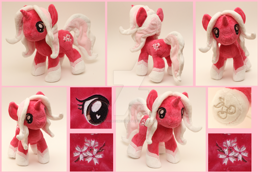 Custom handmade My Little Pony OC plush - Sakura by SugarcubeCherry