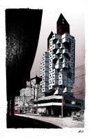 Nakagin Capsule Tower by rednotdead