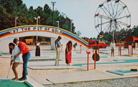Mini Golf at South Of The Border, NC - SC by Yesterdays-Paper