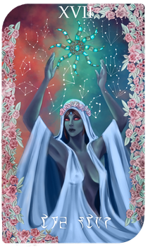 Daedra Tarot Cards - Azura, The Star by AredheelMahariel