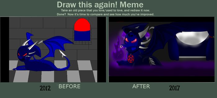 Draw this Again meme: Wicked Time (Malicia) by PsychoYellowDragon