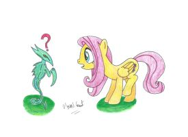 Fluttershy and the Sliver by UlyssesGrant