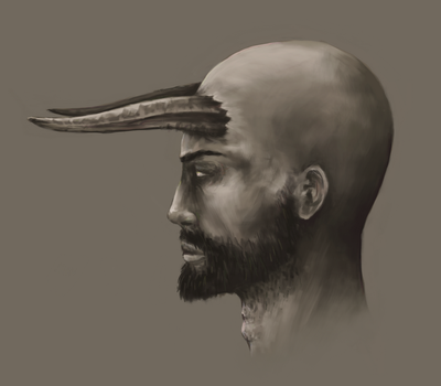 Head Study by ross-senpai