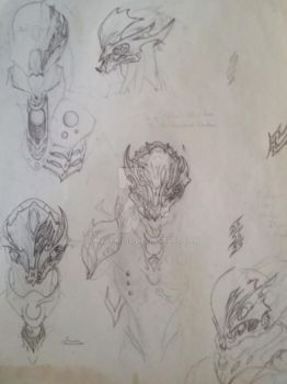 Full Suit Biomechanical Doodles by Malckuss
