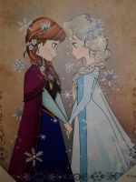 Frozen  picture Frame by blueappleheart89