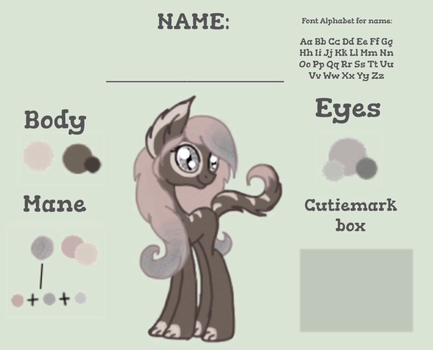 Comission: Catpony Custom Reference Sheet by Alastia-The-Catpony