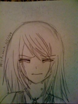 Crying Anime Girl by Roxas-Sora-x