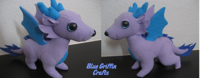 Dragon Dog Plush Commission by BlueGriffinCrafts