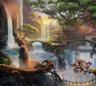 Earth Scenery Concept art #1 by Miss-TaDa