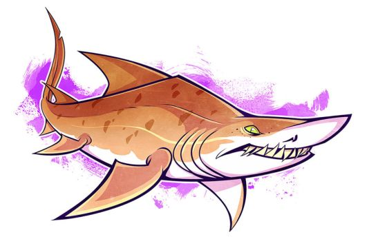 SHARKWEEK: Sand Tiger Shark by squeedgemonster