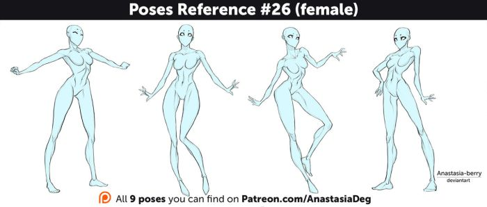 Poses Reference #26 (female) by Anastasia-berry