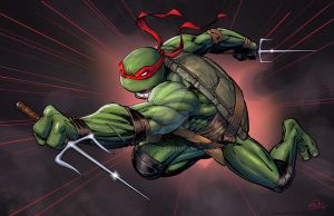 Teenage Mutant Ninja Turtles_Rafael Colors by SaviorsSon