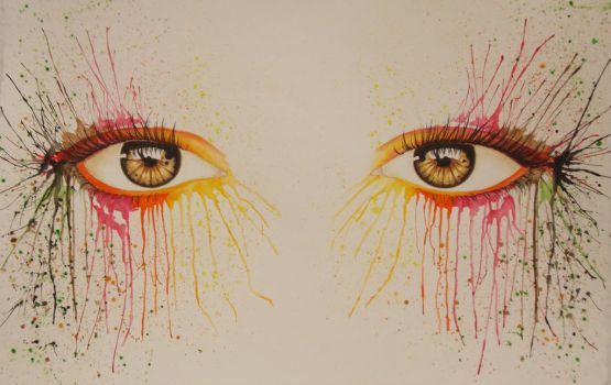 Autumn Eyes by Color-Droplet