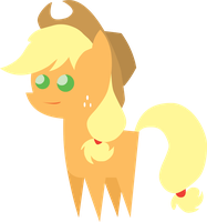Little Some-What Happy Apple Jack Figure by MikeTheUser