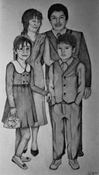 Family Portrait Drawing by Callused