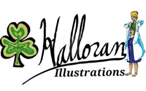 Halloran Illustrations logo by HalloranIllustration