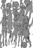 Female Sketches by moxie2D