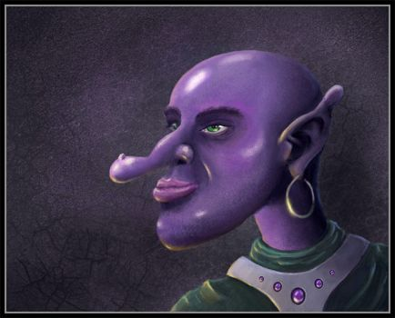Purple guy with a funny nose by Codexus