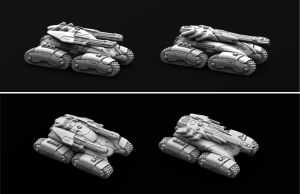 Marhaf Legion Heavy Assault Tank both variants by Hongablaster